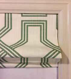 Custom Roman Shade in Ander Succulent Green image 0 Custom Roman Shades, Karen Johnson, Desks For Small Spaces, Duck Egg Blue, Fabric Panels, Blue Sapphire, Succulents, Green, Pink