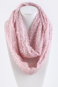 Aspen Sequined Infinity Scarf