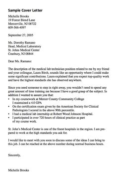 cover letter create my cover letter example of medical lab cover