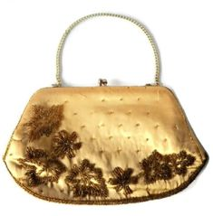 Gold Silk Beaded Purse Glass Beaded Silk Evening Bag Beaded | Etsy Beaded Clutch, Beaded Purses, Beaded Bags, Cow Ears, Vintage London, Gold Silk, Vintage Purses, Vintage Handbags, Gold Texture