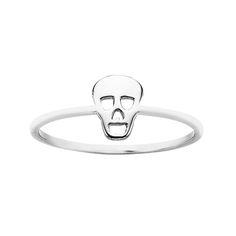 MINI SKULL RING KW146R. Purchase in store or online. 98 Richmond Rd, Grey Lynn. www.dor.co.nz #skullring #skull #jewellery #jewelry #KW #karenwalker #karenwalkerjewellery #stirlingsilver #silver #yellowgold #ring
