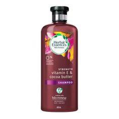 Shampoo Herbal Essences bío renew strength vitamin E & cocoa butter 400 ml Shampoo Herbal Essences, Cocoa Butter, Vitamin E, Herbalism, Strength, Soap, Personal Care, Bottle, Walmart