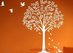 Vinyl Wall Decal Wall Sticker tree debals Tree by walldecals001. $68.00, via Etsy.