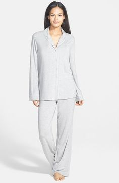 Free shipping and returns on Nordstrom 'Moonlight' Pajamas at Nordstrom.com. Contrast piping outlines classic menswear-inspired PJs styled with a flirty and feminine low-cut neckline. Soft, fluid pants complete the comfy set.