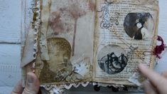 "Tsunami rose DT  project for December. Mini junk journal "" A lady`s diar..."