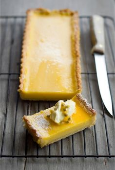 Passionfruit and Lemon #Tart 15 Tropical #Dessert #Recipes | Yummy Recipes