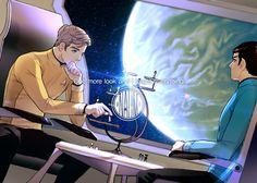 Captain Kirk & 1st/Science Officer Spock.