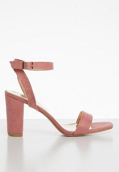 Beri heel - pink Superbalist Heels | Superbalist.com Pink Heels, Block Heels, Open Toe, Ankle Strap, Two By Two, Footwear, Sandals, How To Wear, Shoes