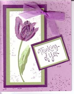 By-By Tulips by Glitterluver - Cards and Paper Crafts at Splitcoaststampers