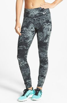 Nordstrom Clothes - Langar svo í ! Nike 'Legendary' Print Dri-FIT Tights (Online Only) available at Under Armour Outfits, Nike Under Armour, Nike Free Runs, Runs Nike, Nike Running, Running Shoes, Nike Leggings, Nike Tights, Nike Workout