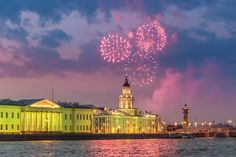 White Nights with fireworks over the Kunstkamera. Image by Alexander Hafemann / Getty Images