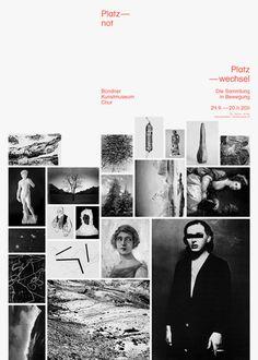 Buero146 | 'Platznot, Platzwechsel' exhibition poster for Bündner Kunstmuseum Chur