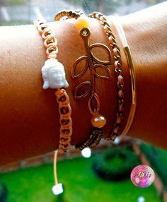 Set of Bracelet Buddha- Beige