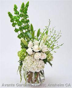 bells of ireland large vase arrangements - Google Search