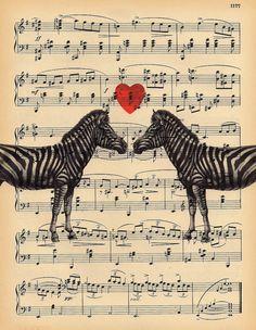 Zebra Heart Lovers Music Sheet