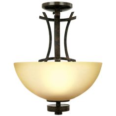 Yosemite Home Decor Sentinel Collection 3 Light Venetian Bronze Semi Flush Mount With