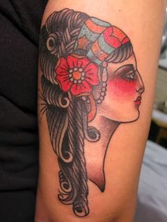 Gypsy Head Tattoo- Pretty Lady