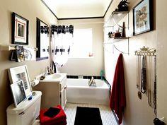 DIY Goth-Style Bathroom >> http://www.diynetwork.com/bathroom/teenage-girls-goth-style-bathroom/pictures/index.html?soc=pinterest