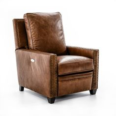 Drexel Heritage® Leather Pairings - Darden Power High Leg Recliner - Item Number: LP8166-RE BROWN