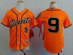 Giants #9 Matt Williams Orange Alternate Stitched Youth Baseball Jersey