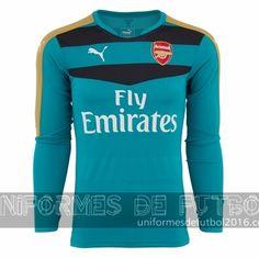 ea09e93219d07 Venta de Jersey visitante para uniforme del portero Arsenal 2015-16  22.90.  uniformesdefutbol · uniformes de futbol del Arsenal 2016