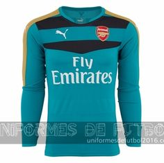 Venta de Jersey visitante para uniforme del portero Arsenal 2015-16  22.90  Arsenal Jersey 0b9a68f0db165
