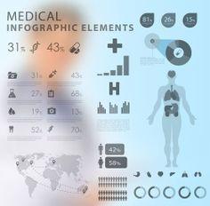 medical infographics suitable for health service leaflets Brochure Layout, Brochure Template, Free Infographic, Infographics, Medical Brochure, Medical Laboratory Science, Leaflet Design, Medical Facts, Creative Brochure