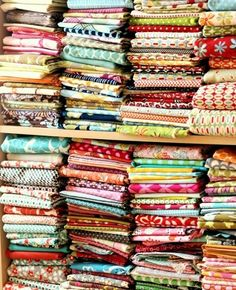 Here's an awesome stash of cotton fabric!