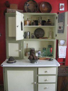My hoosier cabinet and needfuls