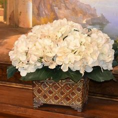 104 best faux florals images on pinterest silk flowers wedding elegant cream hydrangea silk flower arrangement ar289 flower arrangement floral flowers cream hydrangea mightylinksfo