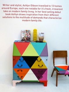 Installation with painted furniture by Ashlyn Gibson whose best selling book 'Creative Family Home' has just been released in a Finnish vers...