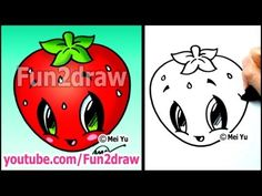 Art Lessons - Easy Things to Draw - Strawberry