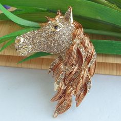Vintage Style Gold-tone Rhinestone Crystal by Silverdewjewelry