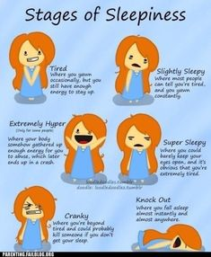 the stages of sleepiness #college #textbooks