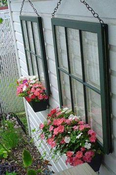 planter/window panes from The Distressed Fleur de Lis
