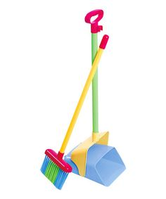 Take a look at this Clever Cleaner Broom & Dust Pan Toy Set by Playgo on #zulily today!