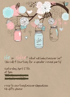There's just so much from this party that I loved. Baby Shower Gender Reveal, Baby Gender, Gender Reveal Party Invitations, Gender Party, Preparing For Baby, Child Life, Reveal Parties, Future Baby, Baby Love