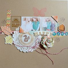 happy by benelun - great use of those doilies