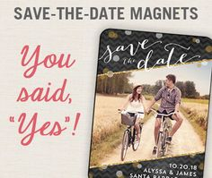 Save-The-Date Magnets!  Yes, please!  Save 30% off through 2/9/16.  Personalized Fine Stationery | Noteworthy Occasions