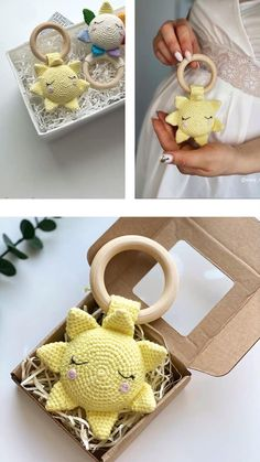 Crochet Baby Toys, Crochet Patterns Amigurumi, Crochet For Kids, Crochet Animals, Crochet Dolls, Handmade Baby, Handmade Toys, Baby Crafts, Diy And Crafts