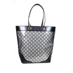 Gucci Handbags Crystal (Coating) Metallic Blue and Black Leather 272377