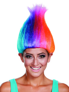 check out trolls movie adult rainbow colored troll wig costume accessories for 2018 wholesale
