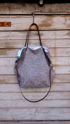 Umhängetaschen - Beuteltaschen XL #basmati flamingo - ein Designerstück von MANA-MANA-BAGS bei DaWanda