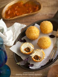 Fried Cheese Eyeballs | 29 Party Snacks That Are Perfect For Halloween