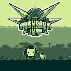 """Artwork of the indie game """"Mushroom Jump"""" on Behance"""