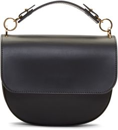 Sophie Hulme Black Medium Bow Bag