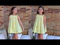 Vestido plumeti amarillo: Revista infantil. - Patronesmujer: Blog de costura, patrones y telas.