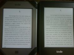 Kindle Touch versus Kindle Paperwhite with light all the way down. Background of my touch is lighter than PW. PW seems yellower.