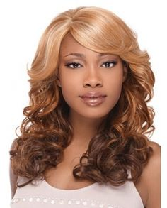 Discount Long Wavy Edge Lace Front Synthetic Wig