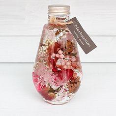 《 単品 ハーバリウム フラワー ギフト 》 ピンク 植物標本 おしゃれ インテリア プレゼント ランプ型